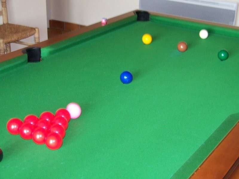 billes de snooker en position